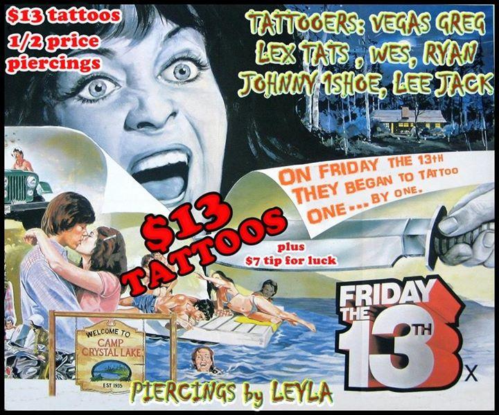 Friday 13th - 13 tattoos