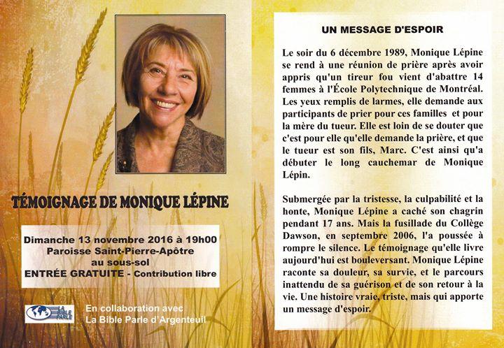 Temoignage De Monique Lepine At Voici L Adresse De L Eglise