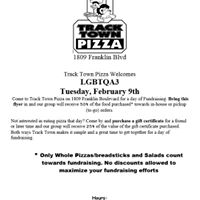 Student Chest Binder Fundraiser at Tracktown Pizza