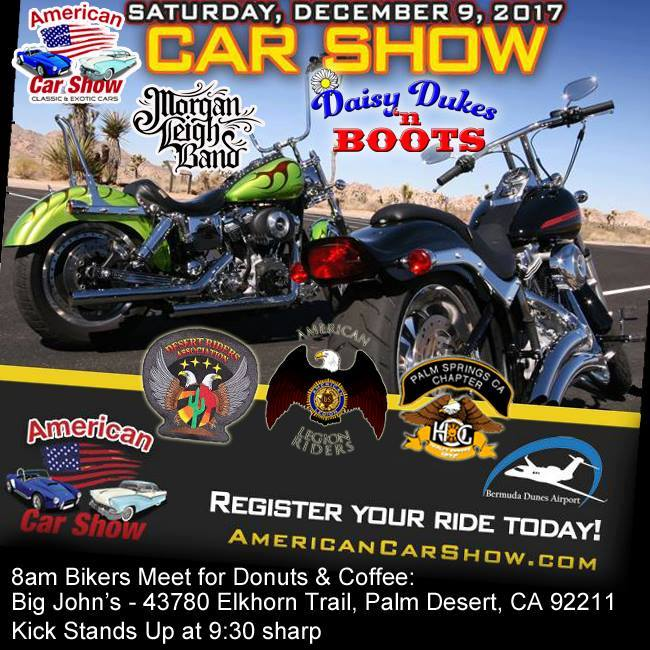 Flash Ride To The American Car Show At Elkhorn Trl Palm - Bermuda dunes airport car show
