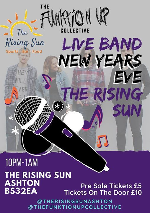 NYE At The Rising Sun with The Funktion Up Collective