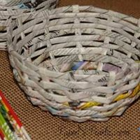 News Paper Basket Weaving Workshop