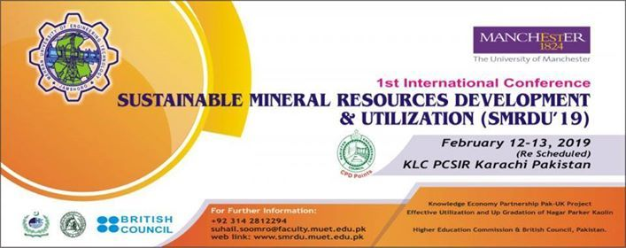 1st International Conference on Sustainable Mineral Resource Dev