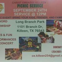 CHRIST EMBASSY KILLEEN PICNIC SERVICE