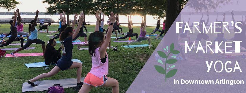 Farmers Market Yoga in Downtown Arlington