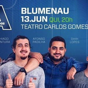 """Novo show &quotOs 4 Amigos"""" em Blumenau 13.Junho  Quinta 20h00"""