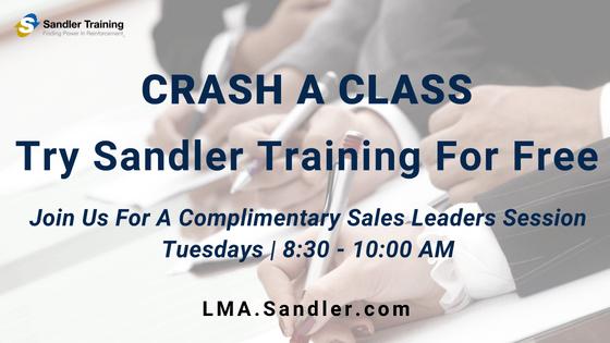 Sandler Training Sales Leaders Workshop