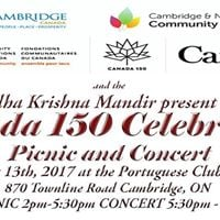 Canadas 150th Celebration - free picnic and concert