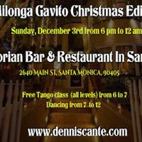 Milonga Gavito Christmas Edition In Santa Monica