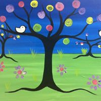 Kids Paint - In Seurats Garden (6 years old)
