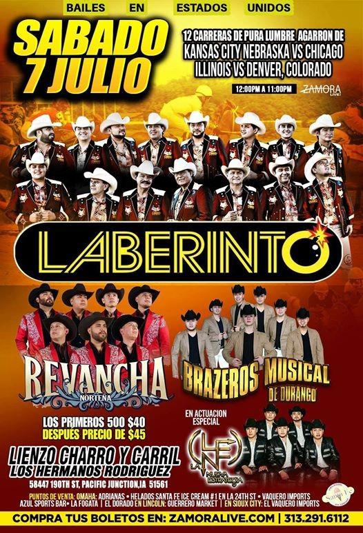 Grupo Laberinto Revancha Norteña Brazeros Musical At 58447 190th St