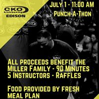 90 Minute Punch-A-Thon to benefit the Miller Family