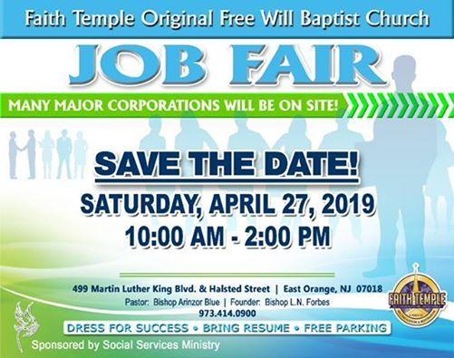 Free Job Fair at Faith Temple No 1 OFW Baptist Church, Jersey