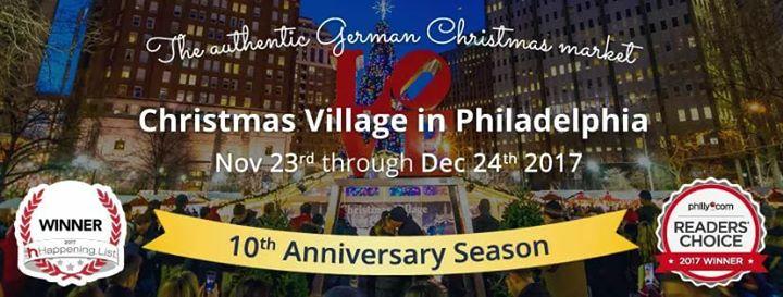 christmas village in philadelphia 2017 at love park philadelphia