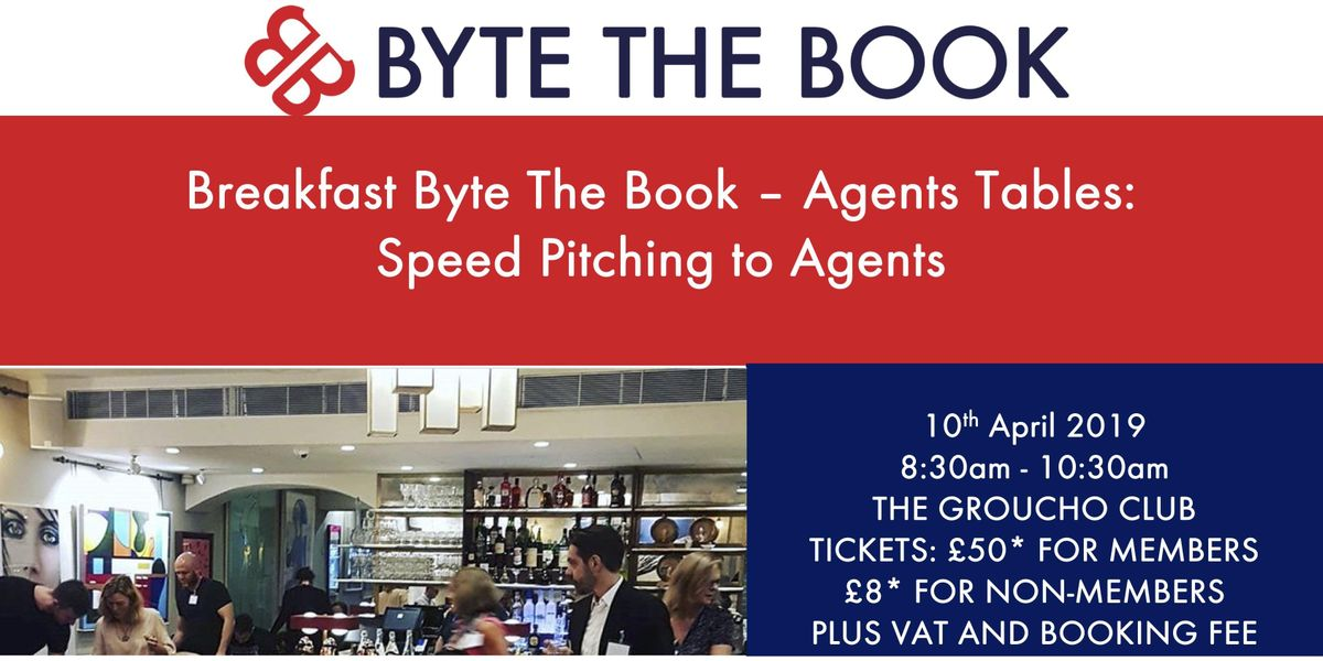 Breakfast Byte The Book Agent Tables - Speed Pitching to Agents at The Groucho Club (April)