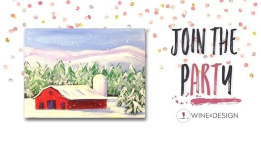 Paint Sip Red Winter Barn At Wine Design Clayton Nc14