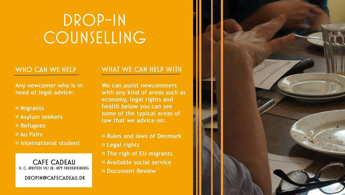 Drop In Law Counselling Immigration At Hc ørsteds Vej 28