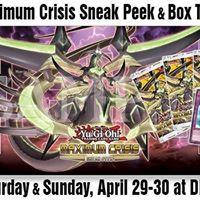 Maximum Crisis Sneak Peek &amp Box Tournament