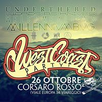 WEST COAST PARTY  Corsaro Rosso (Viareggio)