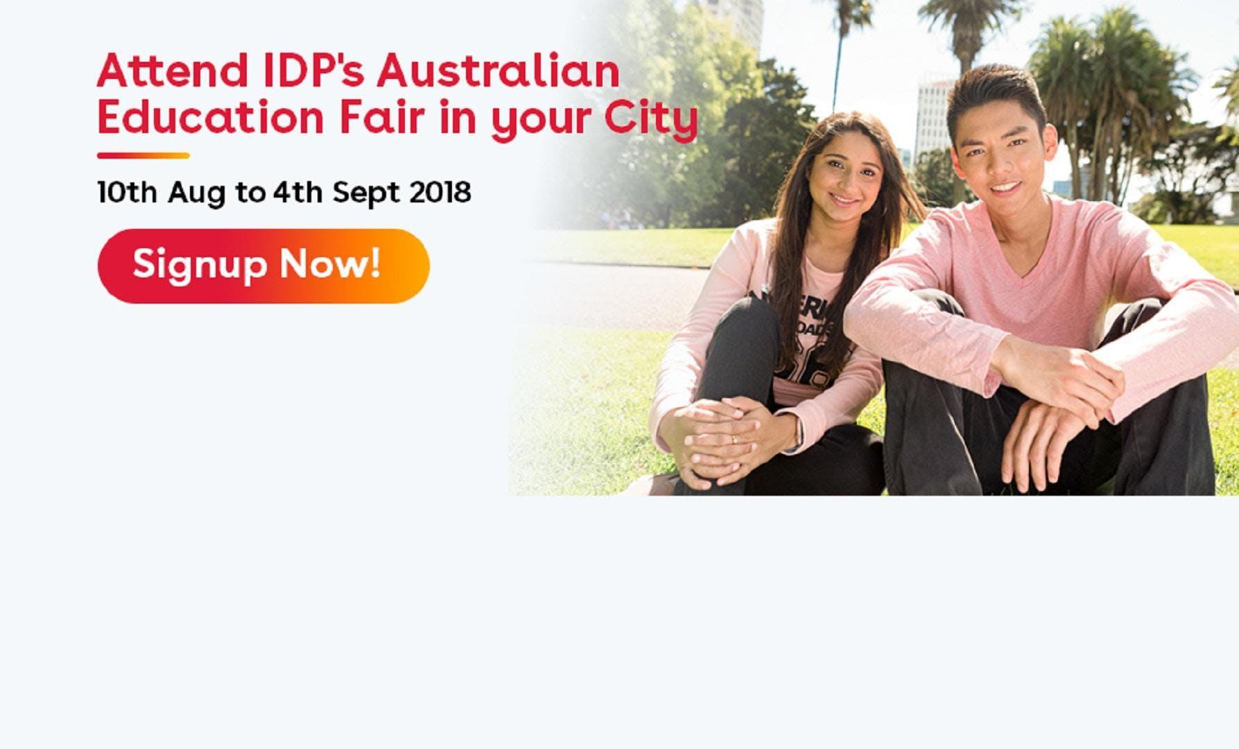Attend IDPs Australian Education Fair in Delhi (18th Aug11am to 5pm)