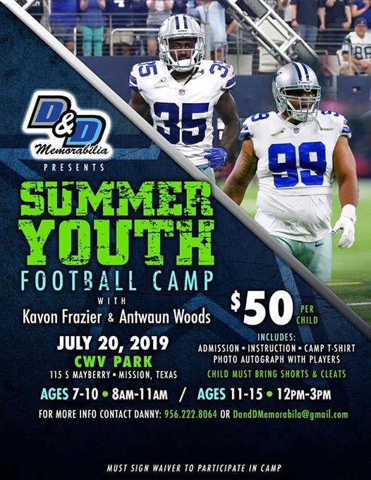 Sumer Youth Football Camp with Kavon Frazier & Antwaun Woods