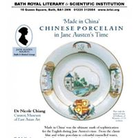 Made in China Porcelain in Jane Austens Time Talk and Tea.