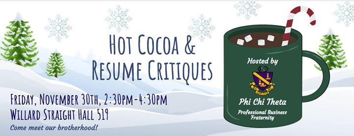 hot cocoa resume critiques at willard straight hall student union new york
