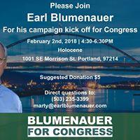 Earl Blumenauers Re-Election Kick Off