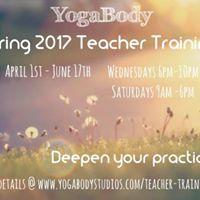 YogaBody Spring 2017 Teacher Training