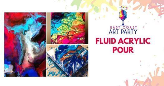 Art Party 0224 - Acrylic Fluid Pour - Charlottetown