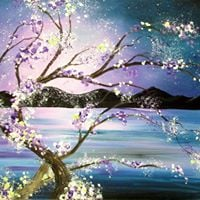 Ethereal evening at painting with a twist houston tx for Painting with a twist arizona
