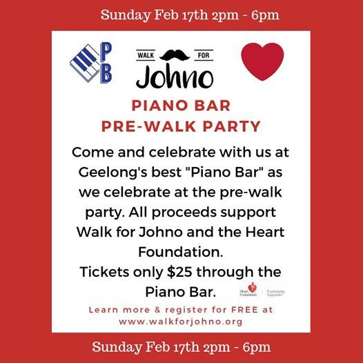 Walk for Johno Piano Bar Launch Party