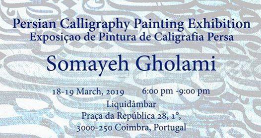 Exposio de pintura de caligrafia persa