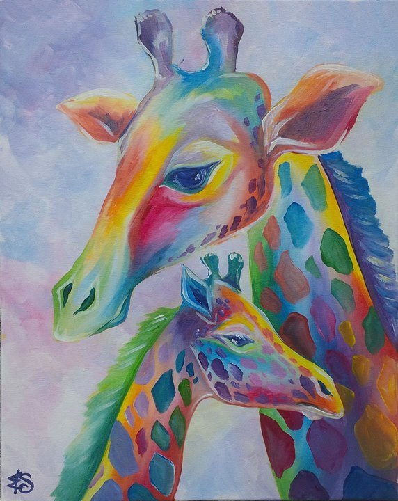 Pastel giraffes at painting with a twist cedar park tx for Wine painting san antonio