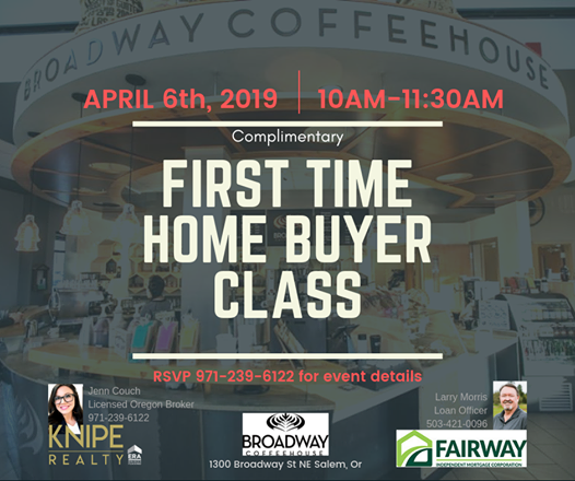 First Time Home Buyer Class At Broadway Coffeehouse Oregon
