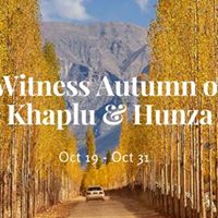 Witness Autumn of Khaplu and Hunza