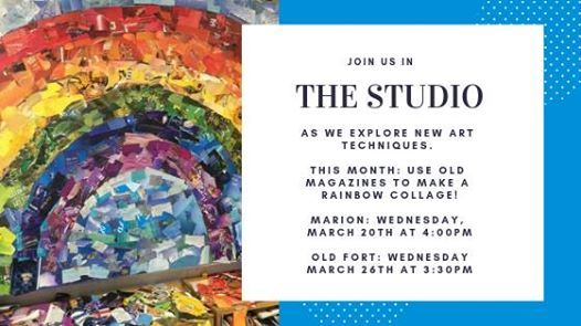 The Studio: Rainbow Collage - Old Fort at Old Fort Branch Library