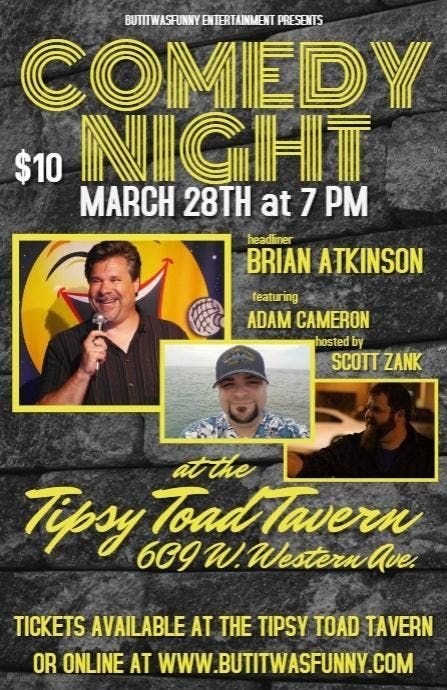 Comedy at the Tipsy Toad Tavern
