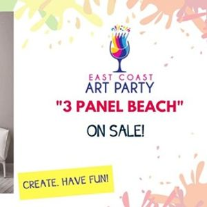 Art Party 0613 3 Panel Beach&quot - Charlottetown