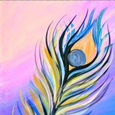 Paint Wine Denver Floating Feather Sat July 6th 11am 25