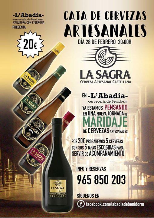 Noche de Cata de cervezas La Sagra en LAbadia.