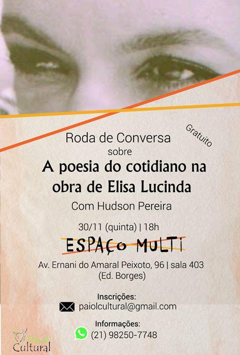 Roda de Conversa sobre A Poesia do Cotidiano na obra de Elisa Lucinda