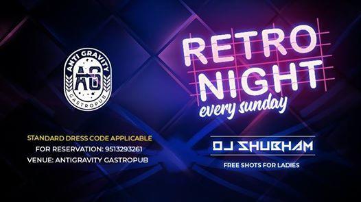 Sunday Retro Night with DJ Shubham