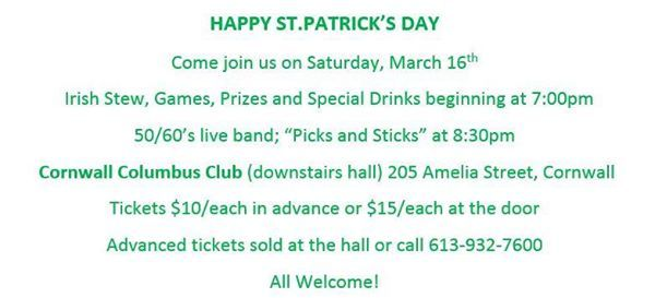 ST-Patricks Day Party