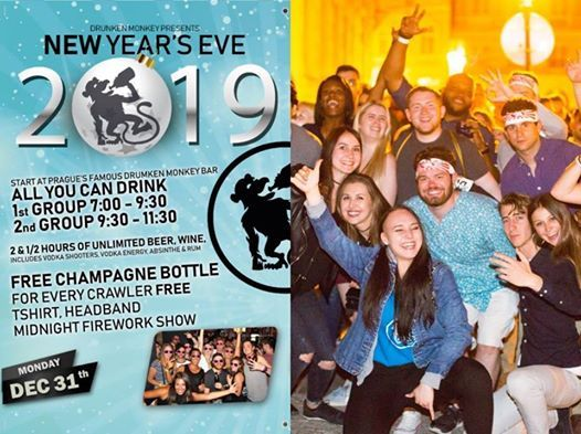 Drunken Monkey New Years Eve 2019 Pub Crawl