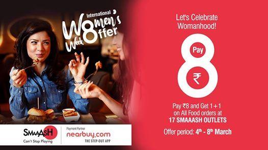 International Womens Week Special Offer At Smaaash
