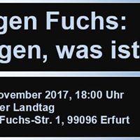 Buchvorstellung und Podiumsdiskussion zum Werk von Jrgen Fuchs