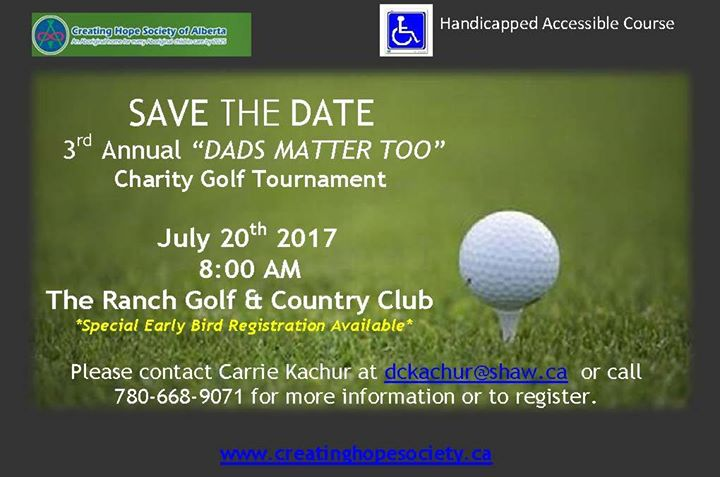 3rd annual dads matter too charity golf tournament at the ranch