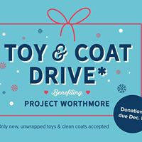 Toy &amp Coat Drive Wrapping Party Benefiting Project Worthmore