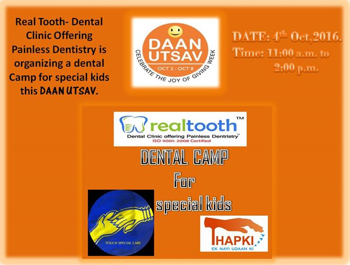 Dental Camp for Special Kids at Real Tooth- Dental Clinic